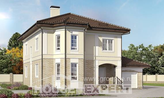 220-007-R Two Story House Plans with garage under, spacious Blueprints of House Plans