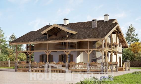 260-001-L Two Story House Plans with mansard roof, luxury Plan Online