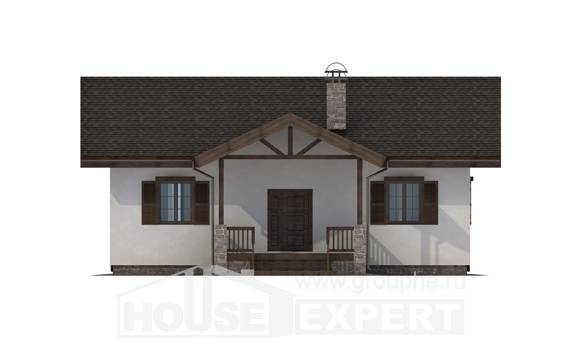 090-002-R One Story House Plans, the budget Woodhouses Plans