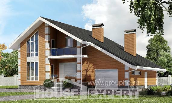 190-006-R Two Story House Plans and mansard and garage, best house Models Plans