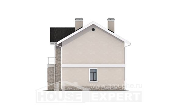 170-008-L Two Story House Plans, small Online Floor