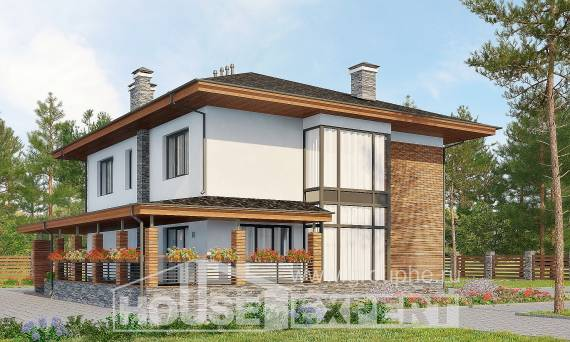 305-001-R Two Story House Plans with garage in back, a huge Models Plans