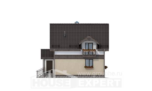 105-001-R Two Story House Plans and mansard, the budget Architect Plans