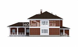 315-001-R Two Story House Plans with garage under, spacious Plans Free