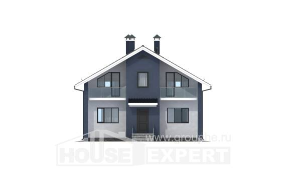 150-005-R Two Story House Plans with mansard roof, modern Design House