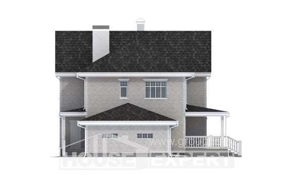 190-001-L Two Story House Plans with garage, spacious House Building