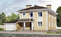 220-006-L Two Story House Plans with garage, classic Villa Plan