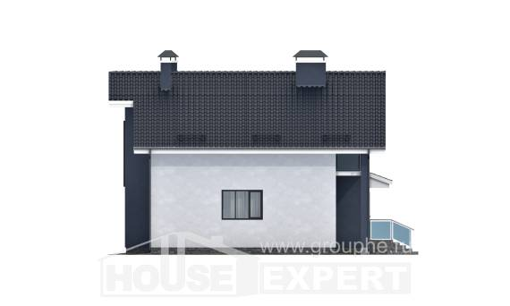 150-005-R Two Story House Plans with mansard, the budget Plan Online