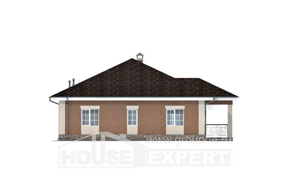 100-004-R One Story House Plans, available Architects House