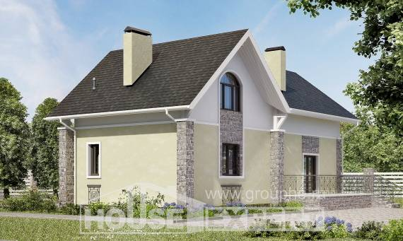 150-012-R Two Story House Plans and mansard, available Plans To Build