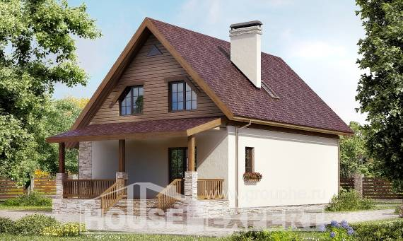 140-001-R Two Story House Plans and mansard, a simple Plan Online