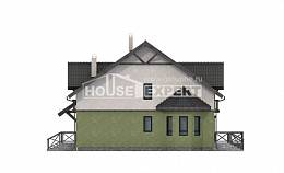 120-003-R Two Story House Plans, modest Villa Plan