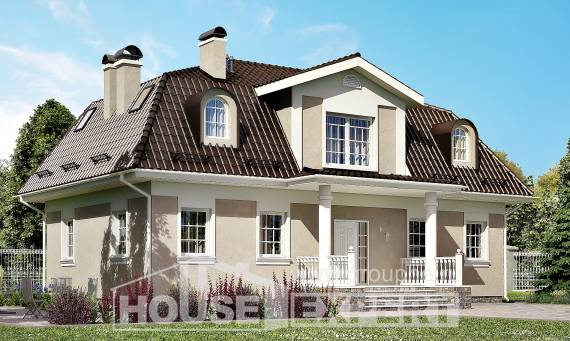 210-001-L Two Story House Plans with mansard, modern House Plans