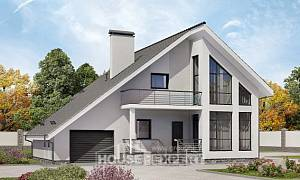 200-007-L Two Story House Plans with mansard roof with garage in back, beautiful Custom Home Plans Online