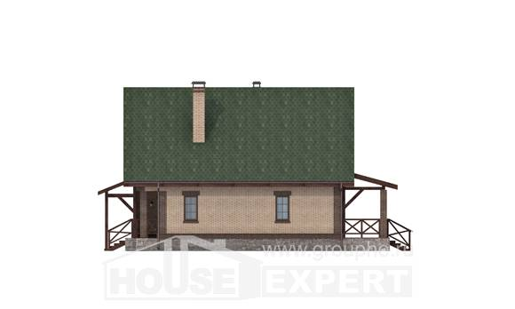 160-011-R Two Story House Plans and mansard, the budget Design House