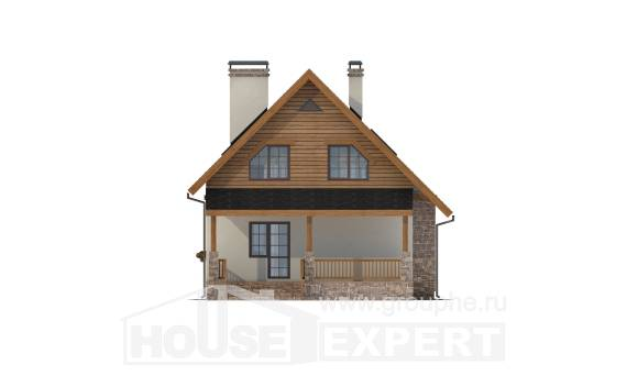 140-001-L Two Story House Plans and mansard, compact House Blueprints