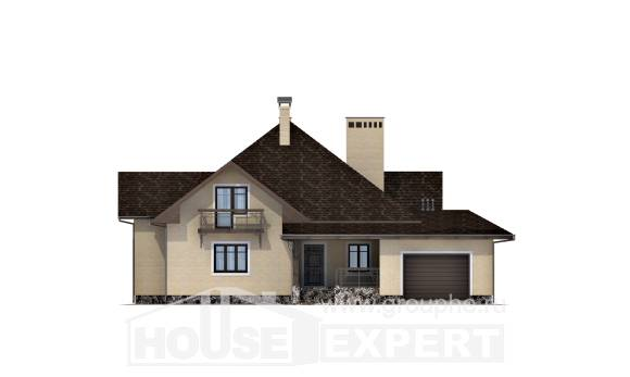 275-003-R Two Story House Plans and mansard and garage, cozy Custom Home Plans Online