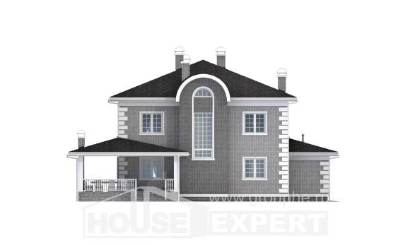 245-004-L Two Story House Plans with garage, beautiful Architects House