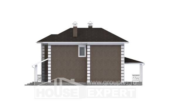 185-002-R Two Story House Plans, cozy Custom Home Plans Online