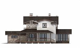 220-001-R Two Story House Plans with mansard with garage in back, spacious Architect Plans