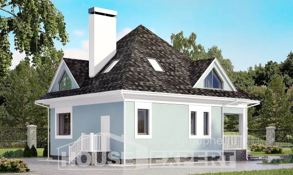 110-001-L Two Story House Plans with mansard roof, a simple Plans To Build