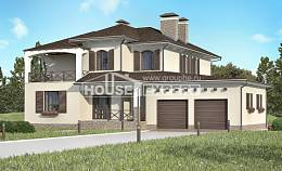 285-002-R Two Story House Plans with garage, spacious Planning And Design