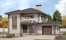 185-004-R Two Story House Plans and garage, luxury Drawing House