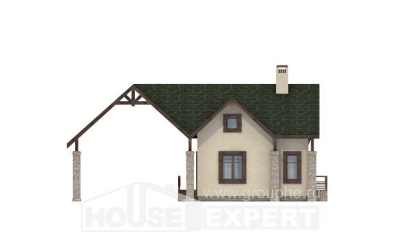 060-001-L Two Story House Plans with mansard with garage in front, beautiful Architects House