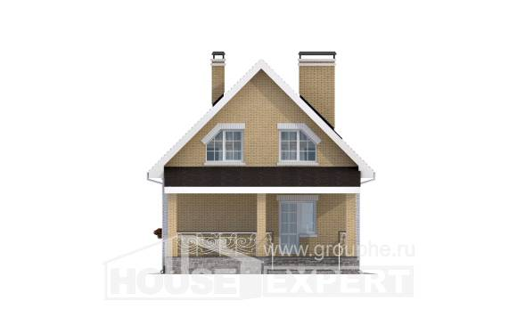 130-004-R Two Story House Plans with mansard roof, best house Home House