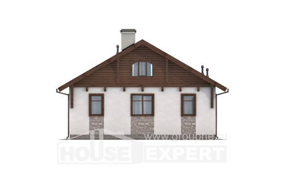 080-002-L One Story House Plans, compact Models Plans