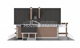 200-009-L Three Story House Plans with mansard with garage in back, cozy Blueprints