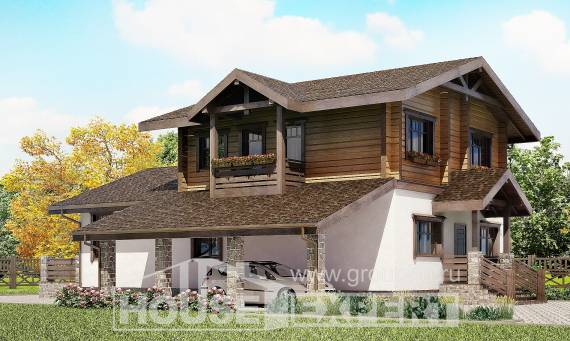 170-004-L Two Story House Plans and mansard with garage, inexpensive Floor Plan