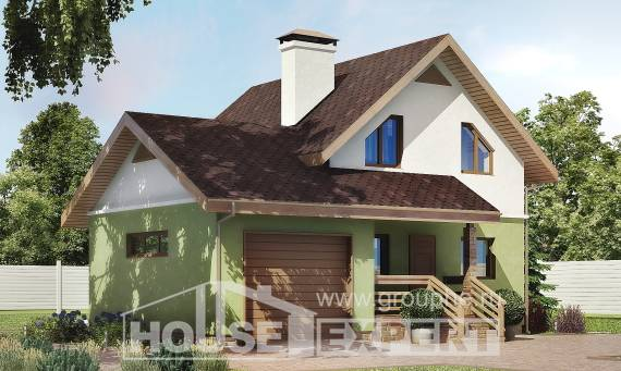 120-002-R Two Story House Plans and mansard with garage in front, a simple Custom Home Plans Online