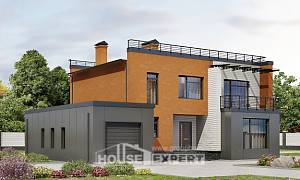 260-002-L Two Story House Plans with garage, beautiful Planning And Design