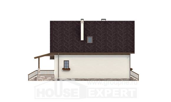 140-001-R Two Story House Plans with mansard, the budget Construction Plans