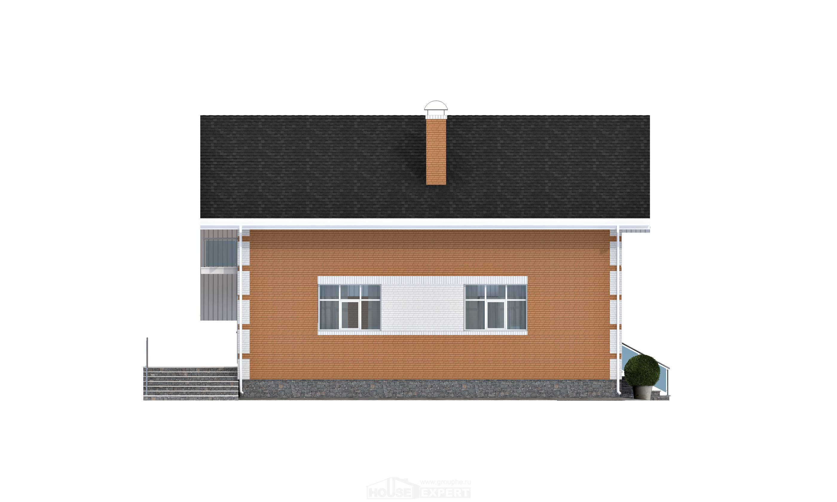 190-006-R Two Story House Plans with mansard roof with garage in back, modern Design House