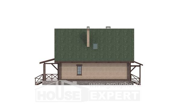 160-011-R Two Story House Plans with mansard, a simple Construction Plans