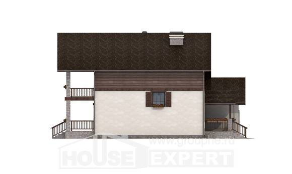 200-003-R Two Story House Plans with garage in back, modern Home House