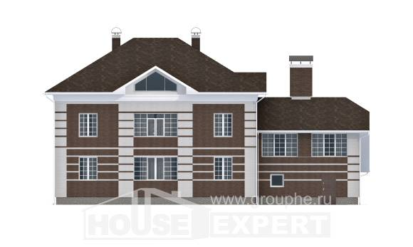 505-002-L Three Story House Plans with garage in front, best house Floor Plan