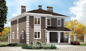 185-002-R Two Story House Plans, average Home Blueprints