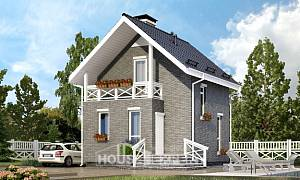 045-001-R Two Story House Plans and mansard, classic Home Blueprints