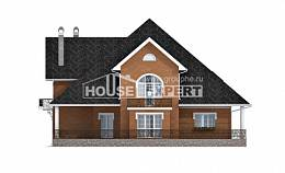 310-001-R Two Story House Plans with mansard, classic Plan Online