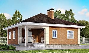 100-001-L One Story House Plans, inexpensive Plans Free