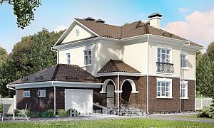 190-002-L Two Story House Plans with garage, modern Architectural Plans