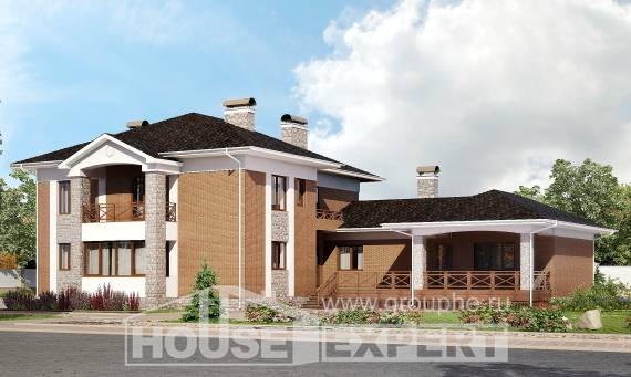 520-002-L Three Story House Plans with garage, spacious House Plan