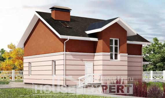 155-009-L Two Story House Plans with mansard, compact Models Plans