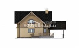 150-011-L Two Story House Plans and mansard with garage under, economical Models Plans