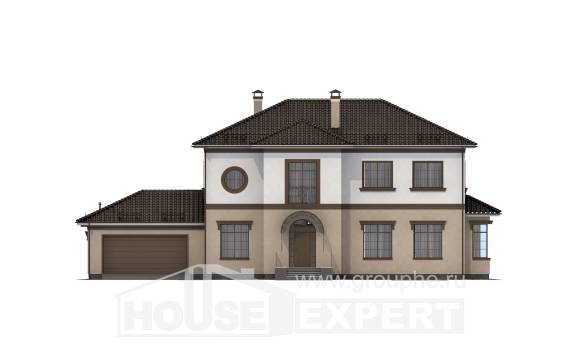 290-004-L Two Story House Plans with garage in front, spacious Construction Plans