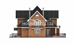 310-001-R Two Story House Plans with mansard roof, modern House Plan