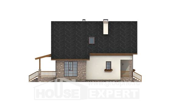 140-001-L Two Story House Plans with mansard, cozy House Plans